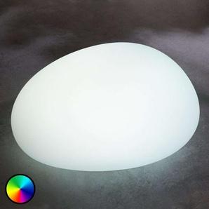 Lampe solaire LED RVB Floriana, pierre, 22cm