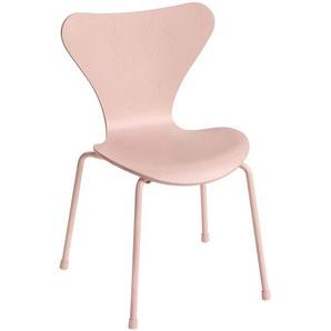 Fritz Hansen Chaise pour enfants Série 7™ - rose/siège frêne teinte/structure acier revêtu par poudre/PxHxP 40x60x40cm