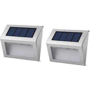 LUMISKY Pack de 2 Spots solaires mural extérieur étanches - 3 LEDs