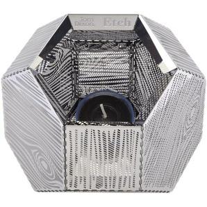 Tom Dixon Lanterne Etch - motif à fentes - argent