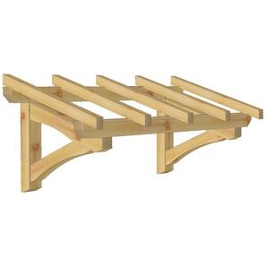 Marquise en bois pour portes et fenêtres - Robuste - 1.90 x 0.9 m - WMU