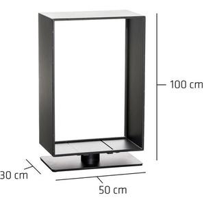 Porte-bûches Basil noir mat 30x50x100 cm - CLP