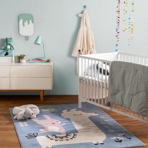Tapis enfant Juno Bleu 160x230 cm - Tapis pour chambre denfants/bébé