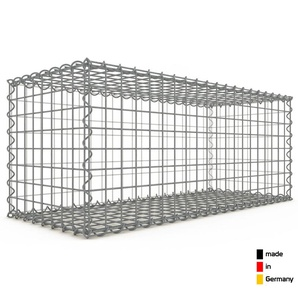 Gabion 100x40x40cm « made in Germany » - mailles carrées 5x5cm - GABIONDECO