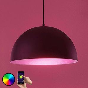 Lindby Smart suspension LED Bowl 41cm noir