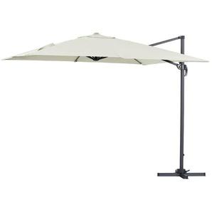 Parasol jardin déporté Alu Sun 3 - Carré - 3 x 3 m - Ecru - HABITAT ET JARDIN