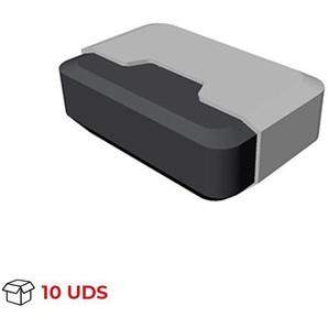 Boîte avec 10 Butée de porte adhésive modèle TECHNO, en plastique, finition aluminium et motif rectangulaire - REI