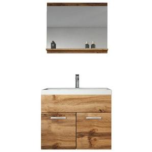 Meuble de salle de bain de Montreal 02 60 cm lavabo Marron - Armoire de rangement Meuble lavabo evier Meubles - BADPLAATS