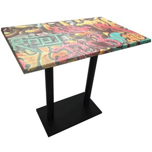 Table haute graffiti