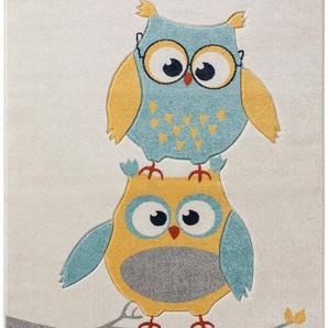 Tapis enfant Eule Bleu 160x230 cm - Tapis pour chambre denfants/bébé