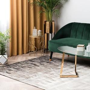 Tapis en cuir beige clair / marron foncé 160 x 230 cm HINIS