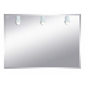 Miroir de salle de bains avec éclairage fluo-compacte - Modèle Trois Spots- 75 cm x 105 cm (HxL) - PRADEL