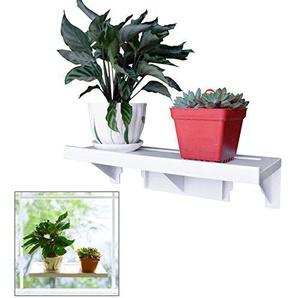 Easy Eco Vie Grande étagère Puissant Rebord de fenêtre Rebord de Veg Rack pour Plantes Pots à herbes/39x 14cm Tenue jusquà 10kg/réutilisables Amovible sans résidus/dommages Gratuit dinstallation