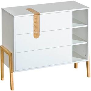 Commode collection Yeti en bois. Pieds en frêne (finition U) et apparents - Blanc