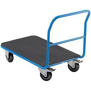 EUROKRAFT Chariot plate-forme de magasin - avec barre de poussée fixe - plate-forme en MDF