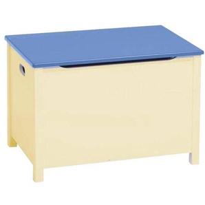 Kinderbunt Emma 2 - Coffre à Jouets bicolore 67x45cm - nature/bleu/67x45x48cm/avec des poignées latérales