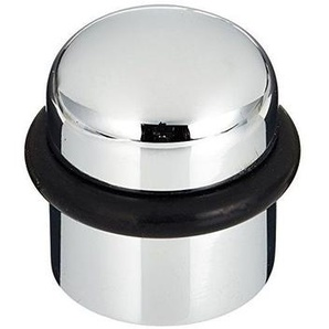 Solido – Butoir de porte – laiton chromé mat - 1 de fond Tampon de porte Ø 25 mm