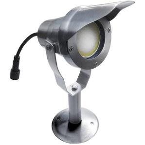 Spot projecteur à Piquer Alu Poli OPTIMUM GU10 MR16 ou MR20 IP67 Orientable extérieur EASY CONNECT ampoule fournie - 65270