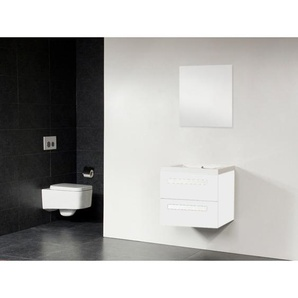 Saniclass Foggia Meuble salle de bain avec miroir 60x45.5cm Blanc S150121