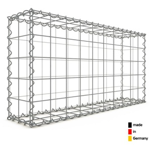 Gabion 100x50x20cm « made in Germany » - mailles carrées 10x10cm - GABIONDECO