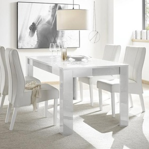 Table a manger 180 cm blanche laqué design NERINA
