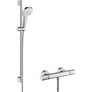 Hansgrohe Combi Croma Select E Vario 0,90m/Ecostat Comfort, blanc/chromé (27082400)
