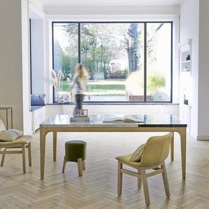 Table Stonepiet en bois de chêne et marbre 201x101