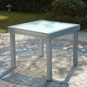 Table Molvina : table de jardin extensible 8 personnes en aluminium