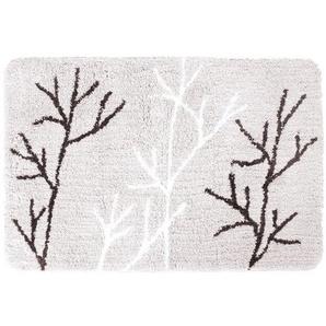 Differnz Leaf Tapis de bain 90x60cm gris