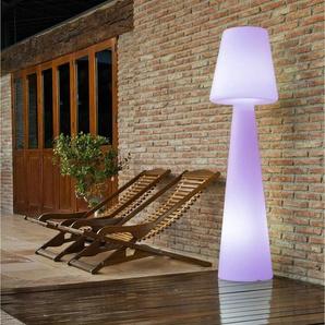LOLA-Lampadaire dextérieur rechargeable RGB H110cm Blanc New Garden