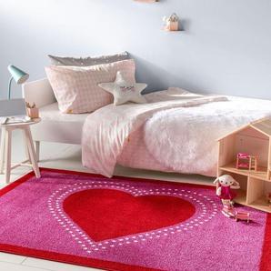 Tapis enfant Noa Kids Heart Mauve 80x150 cm - Tapis pour chambre denfants/bébé