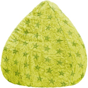 Pouf Fluffy Stars vert anis XL - SITTING POINT