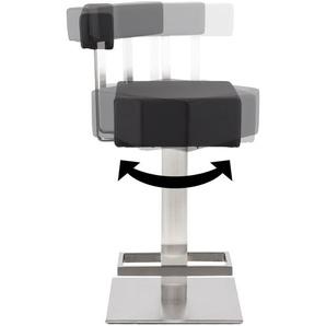 Tabouret snack mi-hauteur PLUBA en matière synthétique noire