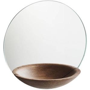 Woud Pocket - Miroir Ø32cm - chêne fumé