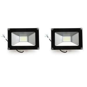 2×Anten 30W Projecteur LED Léger Spot LED Étanche IP65 Lampe Solide pour Extérieur et Intérieur Blanc Froid 6000K Coque Noir