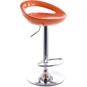 Tabouret de Bar Chic Pivotant Orange - PRIVATEFLOOR