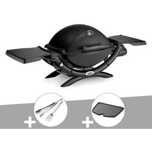 Barbecue gaz Weber Q 1200 Noir + Kit Ustensile + Plancha