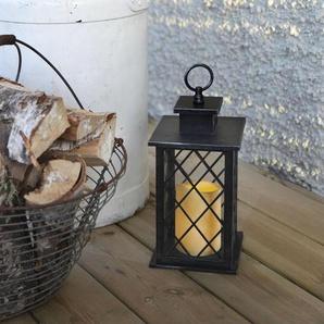 JAIPUR-Lanterne dextérieur Bougie LED télécommande H30cm Noir Best Season