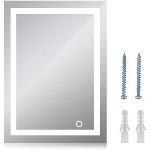 LED Miroir de salle de bain - 50x70cm Blanc froid 6500K - OOBEST