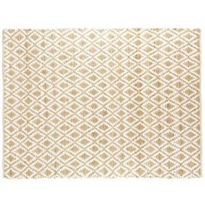 Tapis en coton et jute motifs losanges 140x200