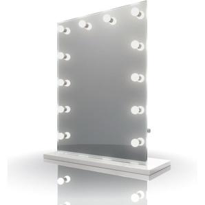 Diamond X Audio Miroir table de maquillage Hollywood Avec ampoules LED k90sCWaud - Couleur LED : Ampoules LED blanches froides - DIAMOND X COLLECTION