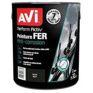 AVI - PERFORM ACTIV FER - PEINTURE ANTI CORROSION - BRILLANT - NOIR MAT PPG 371619