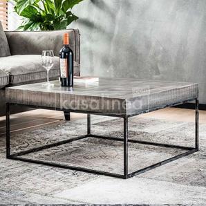Table basse carrée en bois massif ALANIS