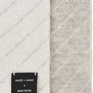 Made By Hand Couverture PINSTRIPE THROW  - blanc