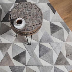 Tapis gris aux motifs contemporains 160 x 230 cm ALAKA