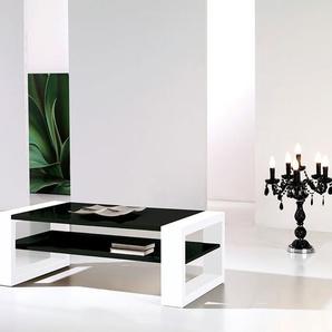 Table basse noir et blanc laqué design CYNTHIA