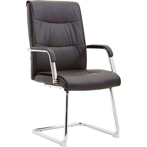 Chaise de salle à manger Caro V2 similicuir marron - PAAL OFFICE FURNITURE