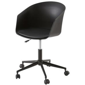 Fauteuil de bureau vintage noir Calvin
