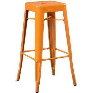 SKLUM - Tabouret Haut LIX Orange Safran Acier