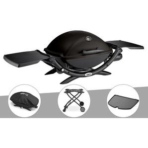 Barbecue à gaz Weber Q 2200 + Housse + Chariot + Plancha